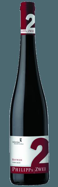 Het complexe Philipp 's Zwei Rotweincuvée van Phillip Kuhn imponeert met indrukwekkende elegantie. De rode wijn straalt intense aroma 's van bosvruchten uit, vergezeld van subtiele chocolade en kruidige noten. Een vleugje kerstkruid rondt de geur af en witte peper zorgt voor een prachtig aha-effect. De krachtige tannines geven het de nodige bite en een lange levensduur. Vinificatie/Productie Deze blend is bijna twee jaar gerijpt in eiken vaten van twee jaar.Zoals alle rode wijnen van Philipp Kuhn is de wijn compromisloos gefermenteerd. Na het handmatig oogsten worden de stengels van de rode wijndruiven gescheiden en worden de druiven opgeslagen in de pureebeker. De gisting vindt daar plaats over een periode van 10 dagen tot 3 weken. Gedurende een periode van ongeveer 20 maanden wordt het opgeslagen voor rijping in twee jaar Franse eiken vaten. Serveersuggestie/Food pairing De Philipp 's Zwei Rotweincuvée van Phillip Kuhn is een zeer goede aanvulling op sterke vleesgerechten. Prijzen/Prijzen van de afgelopen jaren Eichelmann - Ascendant of the Year 2010Gault Millau - Ascendant of the Year 2011