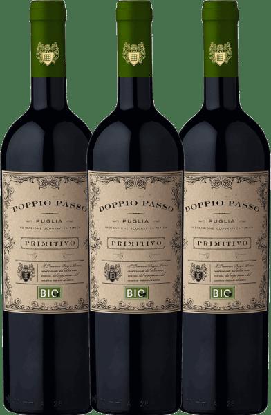 3er Vorteils-Weinpaket - Doppio Passo Bio Primitivo Puglia IGT 2020 - CVCB