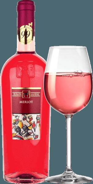 """Le Merlot Rosato de Tenuta Ulisse est le best-seller rosé des meilleurs vins des Abruzzes. Il vient dans le verre avec du rouge framboise fort et inspire non seulement l'ami rosé, mais tous les amateurs de vin qui aime les vins puissants et expressifs. Tout d'abord, des notes fruitées de framboises mûres, canneberges, fraises et cerises pénètrent le nez. Le fruit est complété par des notes florales, de fines épices aux herbes et de légères nuances citriques de pamplemousse rose, de kumquat et de bergamote. Des notes florales d'hibiscus et de rosier complètent brillamment le bouquet. En bouche, l'Ulisse Merlot Rosato commence par un prélude animé et fruité. Délicieusement agrippant, juteux et avec une acidité vitale, ce rosé italien glisse sur la langue. Un festin pour les sens. Pas étonnant donc que la légende critique Luca Maroni ait fait de ce vin d'Ulisse une partie de sa meilleure note pour la deuxième fois. Vinification du Merlot Rosato par Tenuta Ulisse Cette voiture rose dentelle a été vinifiée à partir de raisins 100% Merlot cultivés autour de Crecchio dans la province des Abruzzes de Chieti. Les vignes ici sont enracinées dans des sols sablonneux et ont été en mesure de creuser leurs racines profondément dans le sous-sol pendant 10-20 ans. Le sol sablonneux ne laisse pas trop d'eau aux vignes, ce qui renforce la profondeur et l'étendue des racines et fait pousser les raisins particulièrement intensément, car pas si dilués. Après la cueillette à la main, les raisins entrent immédiatement dans la cave, sont écrasés et macérés à froid pendant 12 heures. Après pressage du moût, la fermentation a lieu, qui est suivie d'une période de maturation de trois mois dans la cuve en acier inoxydable. Recommandations alimentaires pour Ulisse Merlot Rosato Profitez de cet excellent vin rosé des Abruzzes avec du poisson grillé, des plats légers de volaille et des fruits de mer. Prix Ulisse Merlot Rosato Luca Maroni: 99 points pour 2018 -""""Un des meilleurs rosés de tous les t"""