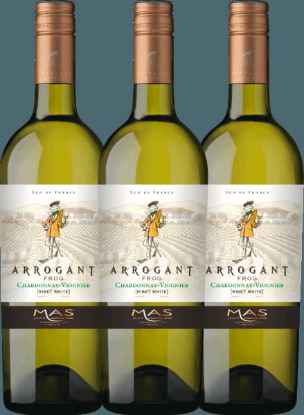 3er Vorteils-Weinpaket - Ribet Blanc Chardonnay Viognier 2020 - Arrogant Frog